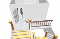 大门开门正对往下楼梯(卷帘水)风水化解方法