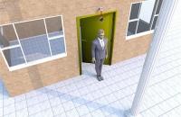 公司大门正对柱子的化解方法